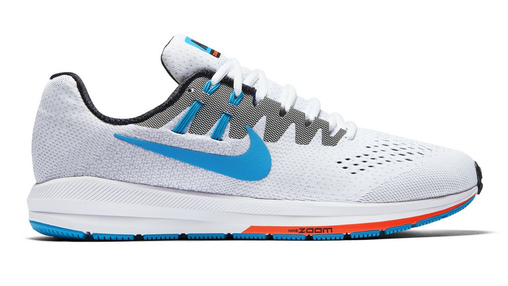 Zapatillas para correr nike Air Zoom Structure 20 Aniversario color Blanco y Celeste