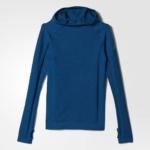 Abrigo con capucha para mujer adidas Climaheat