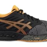 Zapatillas para correr Asics FuzeX color negra y naranja para hombre