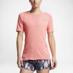 Remera Running Nike Zonal Cooling Relay manga corta para mujer - color rosa