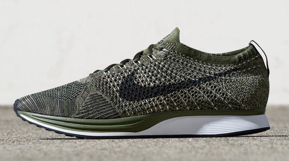"""Zapatillas para correr Nike Flyknit Racer de color verde """"Earth Tones"""""""