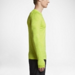 Camiseta mangas largas para correr Nike Dry Knit para hombre color volt - detalle calienta manos