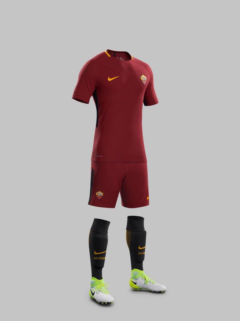 Kit Home Nike del club de fútbol AS Roma para 2017- 2018