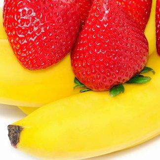 Batido de frutillas (fresas) y bananas (plátanos) (smoothie)